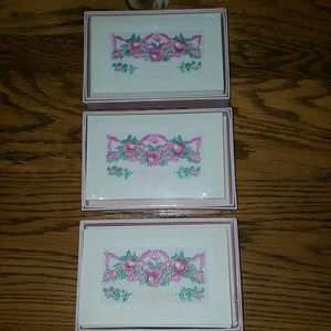 22 embroidered invitation cards